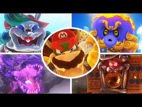 Download Super Mario Odyssey - All Bosses (No Damage) HD Mp4 3GP Video and MP3