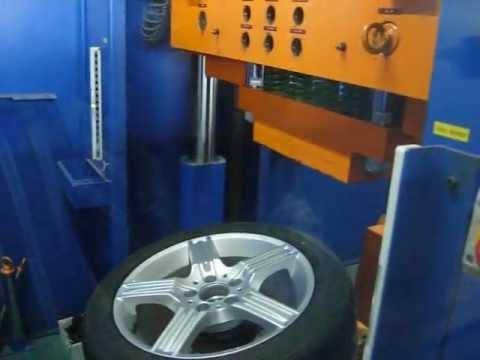 Испытание в лаборатории диска WSP Italy W763 DIONE на удар спицы (Mercedes)