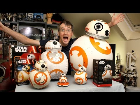 XRobots - Star Wars BB-8 BIG Toy unboxing review & comparison, Sphero, Bladez, Hasbro (видео)
