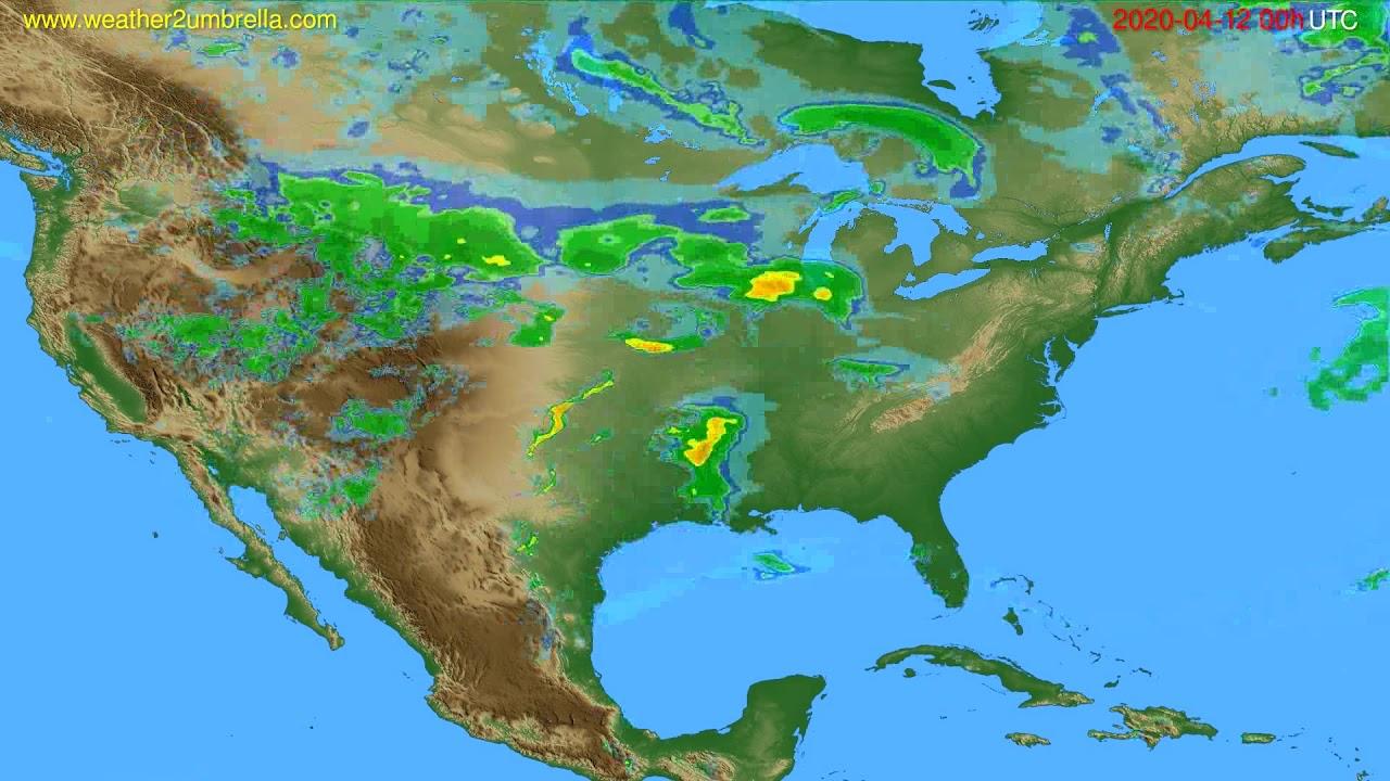 Radar forecast USA & Canada // modelrun: 12h UTC 2020-04-11