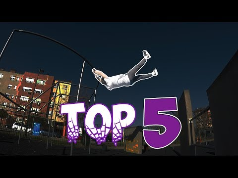 TOP 5 SALTOS EN EL PARKOUR PARK!