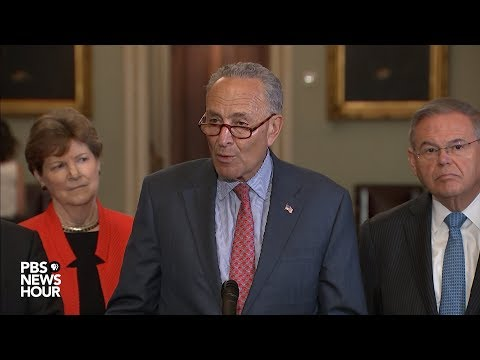 WATCH: Senate Democratic leaders hold news conference following party policy luncheon