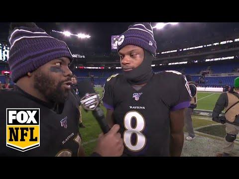Mark Ingram hypes up Lamar Jackson after his big day against Jets | FOX NFL
