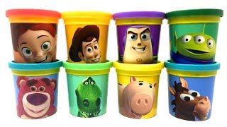 Play-Doh Toy Story 4 Surprise Rex Ham Sheriff Woody Bullseye Buzz Lightyear Jessie Lotso Alien