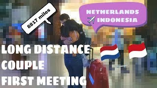 LDR COUPLE Meeting for the first time   Netherlands to Indonesia