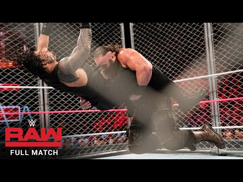 FULL MATCH - Roman Reigns vs. Braun Strowman - Steel Cage Match: Raw, Oct. 16, 2017