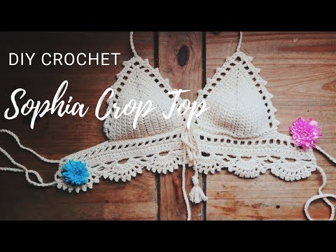 Crochet Crop Top Tutorial Sophia Crop Top