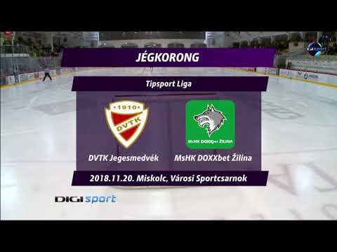 24.forduló: DVTK Jegesmedvék - MsHK Zilina 4-2