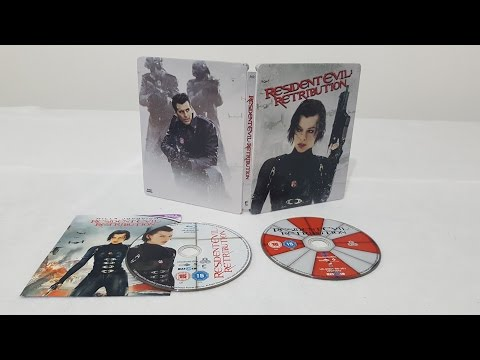Resident Evil Retribution 3D Bluray Steelbook Edition unboxing+Code Giveaway.