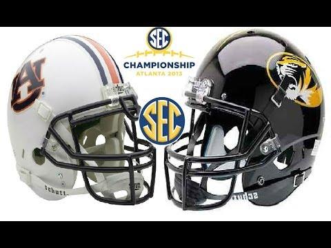 SEC - 3 Auburn Tigers vs #5 Missouri Tigers at the Georgia Dome in Atlanta, GA on December 7, 2013 for the 2013 Southeastern Conference Championship.