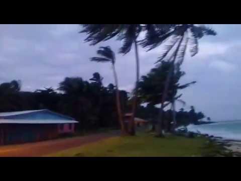 Vientos huracanados en Corn Island