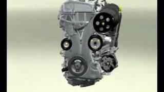 Ensamble motor Ford DuraTec 3D animacion