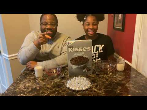 Hershey Kisses Cereal Review!