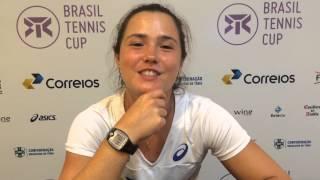 Gabriela Cé convida torcida para a 2ª rodada do Brasil Tennis Cup