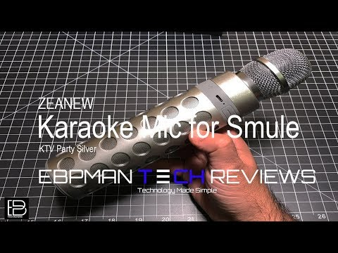 Do You Love Smule?  Then Check Out This Great Karaoke Mic / Speaker From ZEANEW