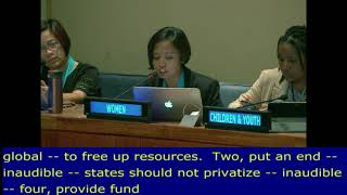 "Eni Lestari's QA Response on ""Investing in and financing for SDGs"". UN Web TV - http://webtv.un.org"