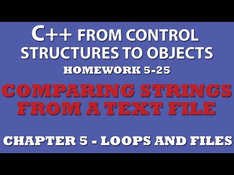 C++ Comparing Strings From a Text File (Ex 5.25) – Working with External Text Files