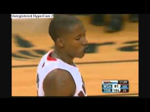 John Wall gets denied by Ed Davis- Raptors vs. Wizards- 12/01/2010