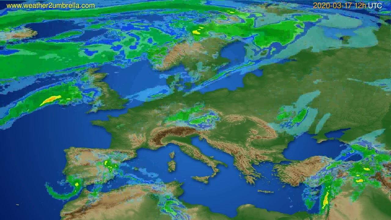 Radar forecast Europe // modelrun: 00h UTC 2020-03-17