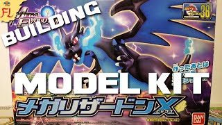 Building and Reviewing a Japanese Mega Charizard X Plamo Figure- Pokemon Model Kit! by Flammable Lizard