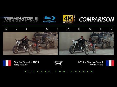 Blu-ray Versus - Terminator 2 (All Changes / 2009 vs 2017) 4K ULTRA HD Comparison