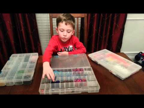 How to store your Rainbow Loom rubber bands.