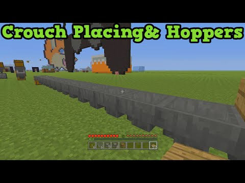Crouch - A tutorial for how to crouch place / Sneak place in Minecraft Xbox as well as Minecraft PS3 and Minecraft PS4. The hopper is a fun new item which benefits from this, and can do some cool things...
