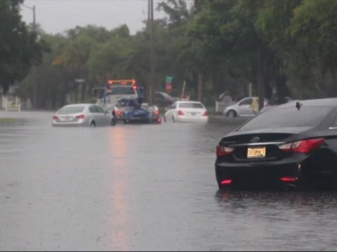 Raw: Record Rain Floods City in Central Florida