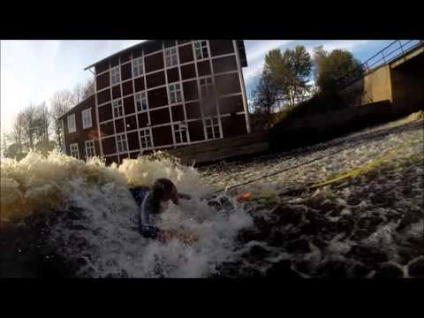 River surfing is great if you can make your own wave