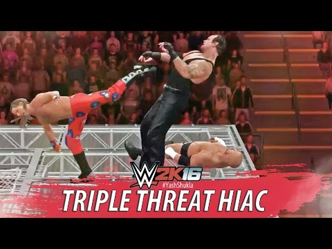 WWE 2K16 - Undertaker vs Triple H vs Shawn Michaels - Hell In A Cell Full PS4 Gameplay Match