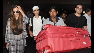 Malaika Arora and Arbaaz Khan Return From IIFA Awards 2017 With Son Arhaan Khan .Click NOW  For the spiciest gossip updates :-http://goo.gl/vHrhfIts For Free !!!!