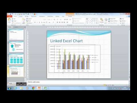How To Link An Excel Chart Into A PowerPoint Presentation