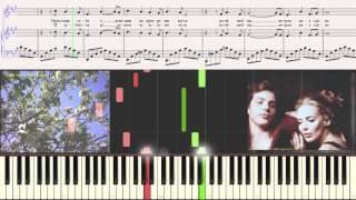 Любви негромкие слова - Анна Герман (Ноты для фортепиано) (piano cover)