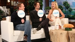 Video Ellen's Favorite Games: Never Have I Ever with Johnny Depp, Gwyneth Paltrow & Paul Bettany MP3, 3GP, MP4, WEBM, AVI, FLV Agustus 2019