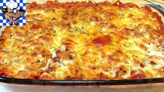 Baked Chicken and Penne Pasta Casserole that will feed a family of 4 or more for only $10.63. This is an extremely easy, delicious and satisfying meal for not a ...