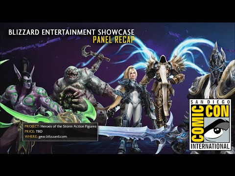ENTERTAINMENT - The SDCC 2014 Blizzard Entertainment Showcase panel had no short supply of epic loot. Join us for a peak at what was covered down in Comic-Con this year. Check out our gear store: http://gear.bliz...