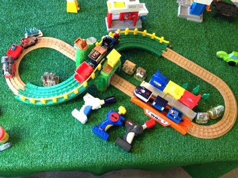 Thomas and Friends Train Surprise in Play Doh Egg on a Fisher Price GeoTrax 3  Remote Control Trains