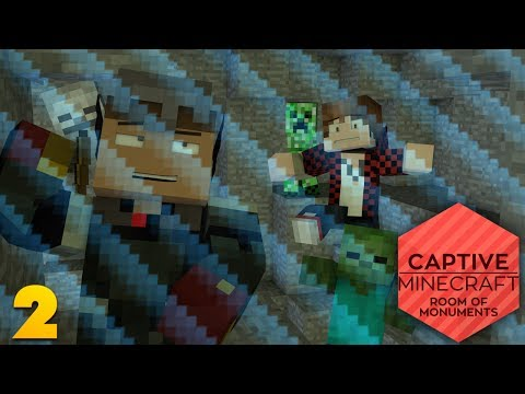 CAPTIVE MINECRAFT EP 2: Creeper Attack! (Captive Minecraft Room of Monuments w/ Mitch)