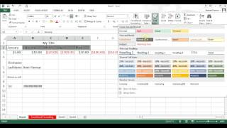 Microsoft Excel 2013 pt 5 (Format, Insert/Delete, Concatenate, Text to Column)