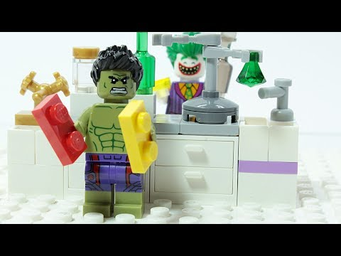 Lego Hulk Brick Building Laboratory Superhero Cartoon Animation