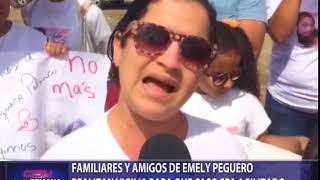 Familiares y amigos de Emely Peguero realizan vigilia para que caso sea agilizado