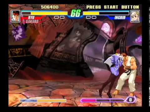 Capcom Fighting Evolution (PlayStation 2) Arcade as Ryu & Sakura