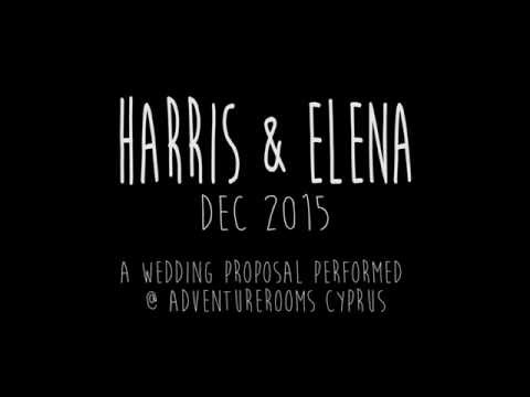 When Harris proposed to Elena