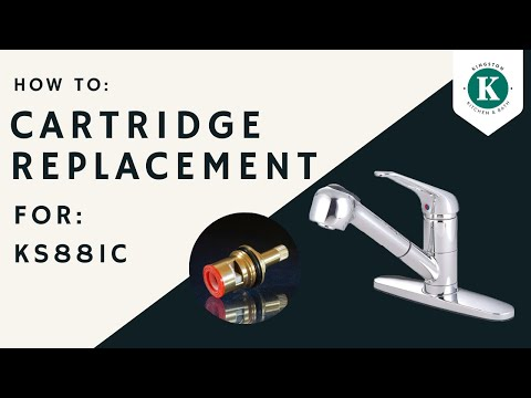How to replace cartridge Kingston Brass KS881C kitchen faucet video