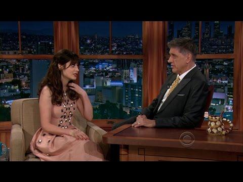Late Late Show with Craig Ferguson 2/4/2013 Zooey Deschanel, Adhir Kalyan