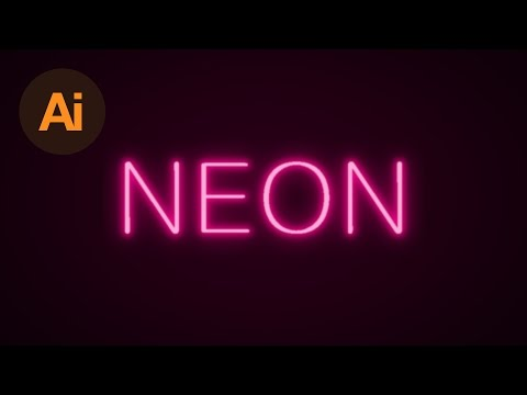 Learn How to Create a Neon Text Effect in Adobe Illustrator | Dansky