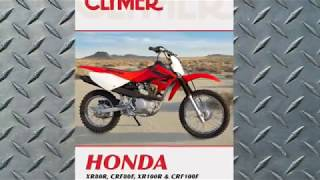 7. Clymer Manuals Honda XR80R CRF80F XR100R CRF100F Maintenance Repair Shop Manual Video