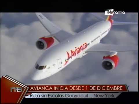 Avianca inicia desde 1 de Diciembre ruta sin escalas Guayaquil - New York