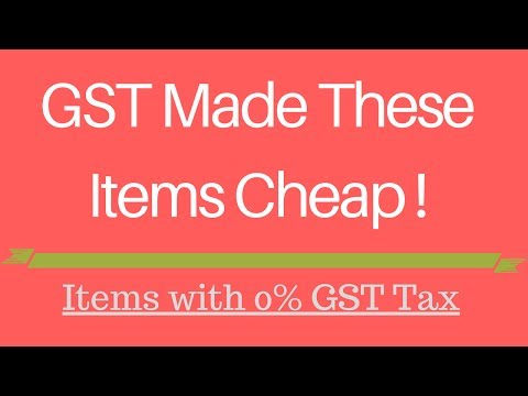 GST Made These Items Tax Free ☑️