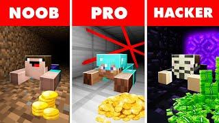 Noob vs. Pro vs. Hacker : BANK ROBBERY ESCAPE CHALLENGE! In Minecraft Animation